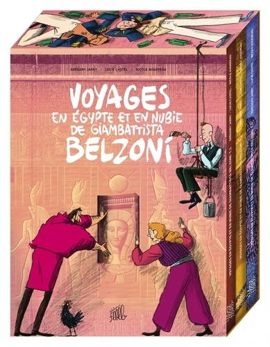 Voyages en Egypte et en Nubie de Giambattista Belzoni  Coffret en 3 volumes : Tomes 1 à 3. Avec un ex-libris