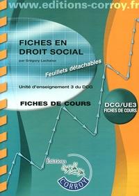 Droit social UE 3 du DCG- Fiches - Grégory Lachaise |