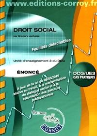 Histoiresdenlire.be Droit social UE 3 du DCG - Enoncé Image