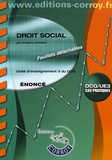 Grégory Lachaise - Droit social UE 3 du DCG - Enoncé.