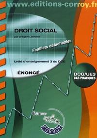 Rhonealpesinfo.fr Droit social UE 3 du DCG - Enoncé Image
