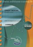Grégory Lachaise - Droit social UE 3 du DCG - Corrigé.