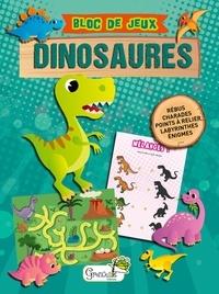 Grenouille éditions - Bloc de jeux dinosaures.