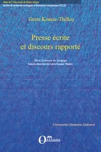 Greta Komur-Thilloy - Presse écrite et discours rapporté.