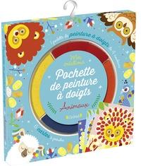 Gründ - Pochette de peinture à doigts animaux - Avec 6 cartes à peindre et une palette de 4 couleurs.