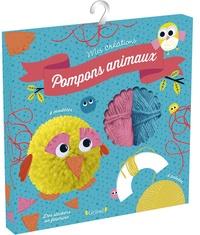 Gründ - Pochette pompons animaux - Contient 4 pelotes de laine, des yeux autocollants, des stickers en feutrine.