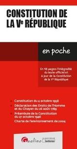 Gualino - Constitution de la Ve République.