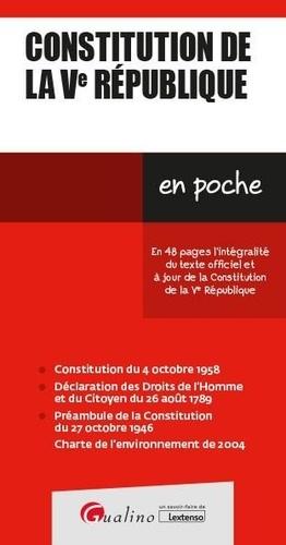 Constitution de la Ve République  Edition 2021-2022