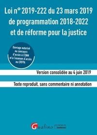 Gualino - Loi n°2019-222 du 23 mars 2019 de programmation 2018-2022 et de réforme pour la justice - Version consolidée au 4 juin 2019. Texte reproduit sans commentaire ni annotation.