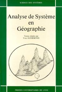 Guermond - Analyse de système en géographie.