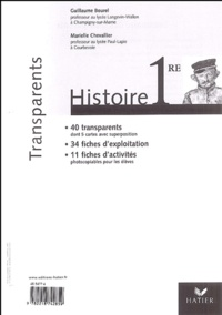 Guillaume Bourel et Marielle Chevallier - Histoire 1e L/ES/S - Transparents.