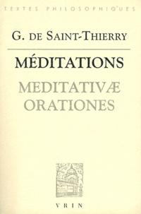 Guillaume de Saint-Thierry - Méditations.