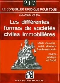 Guillaume Duprez - Les différentes formes de sociétés civile immobilières.