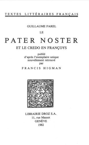 Le Pater Noster et le credo en françoys