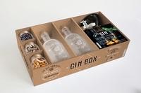 Guillaume Guerbois - Gin box - Coffret avec 2 bouteilles pour réaliser votre gin, 3 pots à épices & 1 entonnoir.