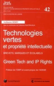 Guillaume Henry - Technologies vertes et propriété intellectuelle - Brevets, marques et écolabels.