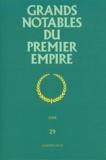 Guillaume Lévêque - Grands notables du Premier Empire - Tome 29, Cher.