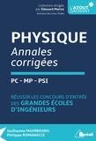 Guillaume Maimbourg - Physique PC-MP-PSI - Annales corrigées.