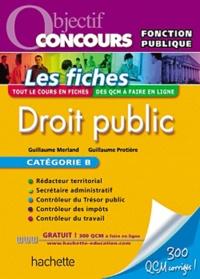 Guillaume Merland et Guillaume Protière - Droit public - Catégorie B.