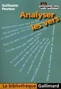 Guillaume Peureux - Analyser les vers.