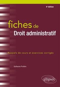 Guillaume Protière - Fiches de droit administratif.