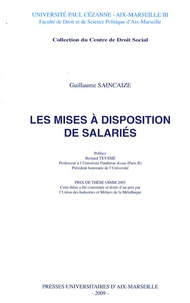 Guillaume Saincaize - Les mises à disposition de salariés.