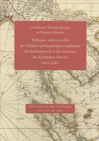 Guillaume-Thomas Raynal et Rigobert Bonne - Tableaux, atlas et cartes de l'Histoire philosophique et politique des établissements et du commerce des Européens dans les deux Indes - Fac-similés des éditions de 1774 et 1780.