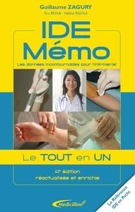 Guillaume Zagury et Eric Revue - IDE Mémo - Les données incontournables pour l'infirmier(e).