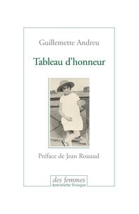 Guillemette Andreu - Tableau d'honneur.