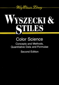 Günther Wyszecki et W-S Stiles - Color Science. - Concepts and Methods, Quantitative Data and Formulae, 2nd edition.