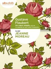 Gustave Flaubert - Un coeur simple, suivi de La Légende de saint Julien l'Hospitalier - Livre audio 1 CD MP3.