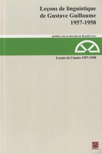 Gustave Guillaume - Leçons de l'année 1957-1958.