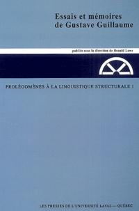 Gustave Guillaume - Prolégomènes à la linguistique structurale - Tome 1.