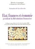 Guy Antonetti - Etat, finances et économie pendant la Révolution française.