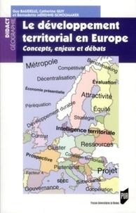 Guy Baudelle et Catherine Guy - Le développement territorial en Europe - Concepts, enjeux et débats.