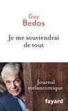 Guy Bedos - Je me souviendrai de tout.