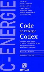 Guy Block et David Haverbeke - Code de l'énergie Codex.