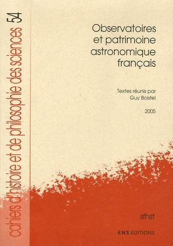 Guy Boistel - Observatoires et patrimoine astronomique français.