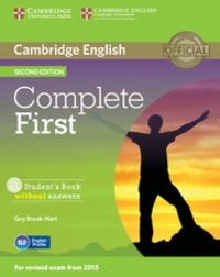 Guy Brook-Hart - Cambridge English Complete First Student's Book without Answers. 1 Cédérom