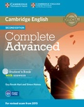 Guy Brook-Hart et Simone Haines - Complete Advanced - Student's Book with Answers. 1 Cédérom