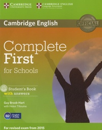 Guy Brook-Hart - Complete First for Schools - Student's Book with Answers. 1 Cédérom