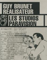 Guy Brunet et Charles Soubeyran - Guy Brunet réalisateur - Les studios Paravision.