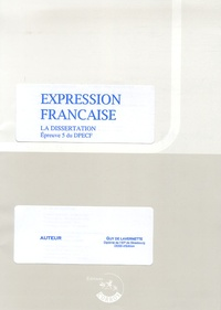 Guy de Lavernette - Expression française Epreuve 5 du DPECF - Dissertation.