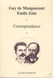 Guy de Maupassant et Emile Zola - Correspondance.