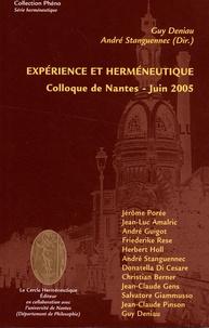 Guy Deniau et André Stanguennec - Expérience et herméneutique - Colloque de Nantes, Juin 2005.
