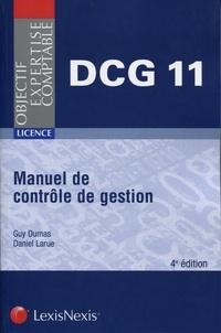 Manuel de contrôle de gestion DCG 11 - Guy Dumas |