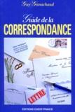 Guy Ganachaud - Guide de la correspondance.