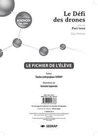 Guy Jimenes - Sciences primaire Sciences en tête Le défi des drones suivi de Pari tenu - Le fichier de l'élève.