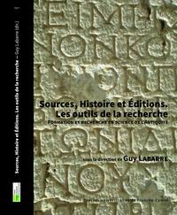 Guy Labarre - Sources, histoire et éditions - Les outils de la recherche. Formation et recherche en science de l'Antiquité.