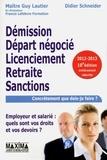 Guy Lautier et Didier Schneider - Démission, départ négocié, licenciement, retraite,  sanctions - Employeur et salarié : quels sont vos droits et vos devoirs ?.